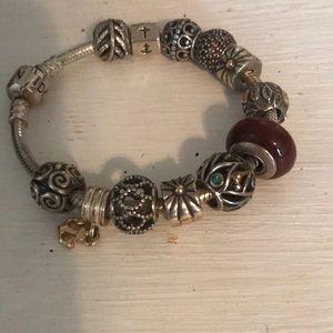 Jewelry - PANDORA bracelet 17 cm + charms